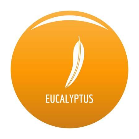 Eucalyptus leaf icon. Simple illustration of eucalyptus leaf vector icon for any design orange