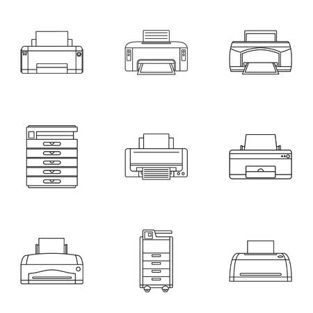 Technical specialist icons set. Outline set of 9 technical specialist vector icons for web isolated on white background