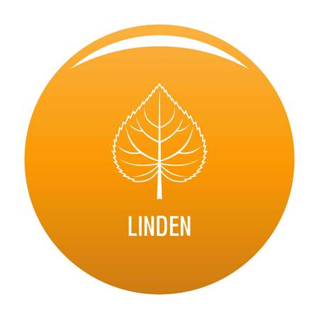Linden leaf icon. Simple illustration of linden leaf vector icon for any design orange
