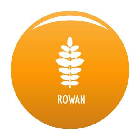 Rowan leaf icon. Simple illustration of rowan leaf vector icon for any design orange Çizim