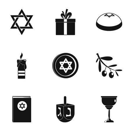 Religionist treatment icons set. Simple set of 9 religionist treatment vector icons for web isolated on white background Illustration