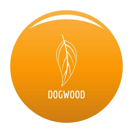 Dogwood leaf icon. Simple illustration of dogwood leaf vector icon for any design orange