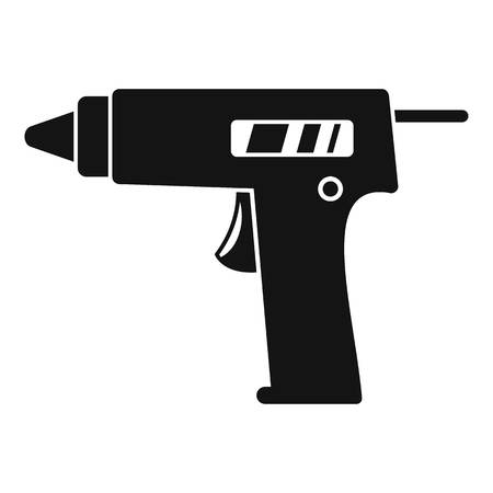 Glue pistol icon. Simple illustration of glue pistol vector icon for web design isolated on white background