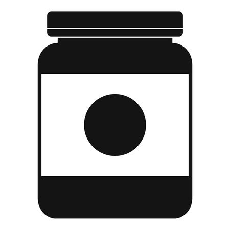 Butter jar icon. Simple illustration of butter jar vector icon for web design isolated on white background