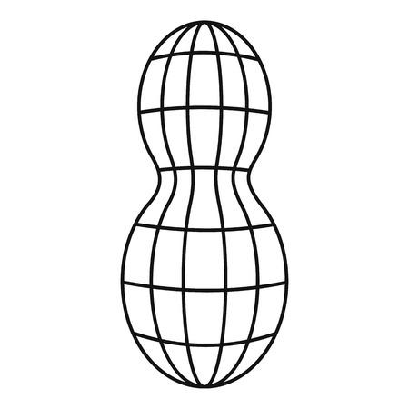 Icône d'arachide crue. Illustration de contour de l'icône de vecteur d'arachide crue pour la conception web isolé sur fond blanc Vecteurs