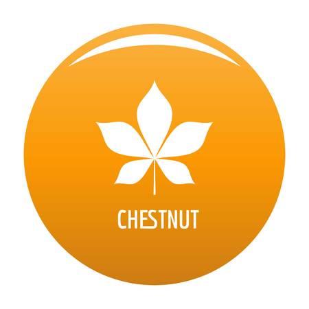 Chestnut leaf icon. Simple illustration of chestnut leaf vector icon for any design orange Stock Illustratie