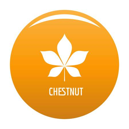 Chestnut leaf icon. Simple illustration of chestnut leaf vector icon for any design orange Illusztráció