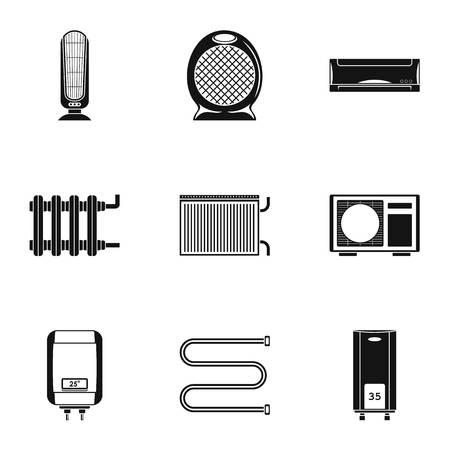 Bathtub icons set. Simple set of 9 bathtub vector icons for web isolated on white background Ilustração