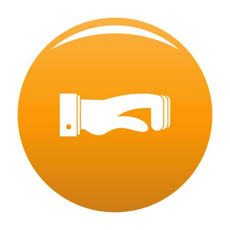 Hand concept icon. Simple illustration of hand concept vector icon for any design orange