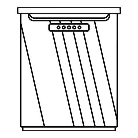 Freezer icon. Outline illustration of freezer vector icon for web design isolated on white background Illustration