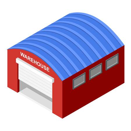 Warehouse icon. Isometric of warehouse vector icon for web design isolated on white background Illustration