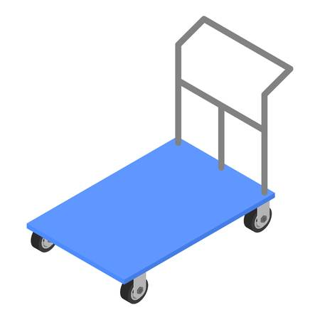 Load cart icon. Isometric of load cart vector icon for web design isolated on white background