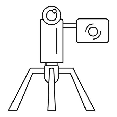 Videocamera stand icon. Outline videocamera stand vector icon for web design isolated on white background