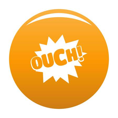 Comic boom ouch icon. Simple illustration of comic boom ouch vector icon for any design orange 일러스트