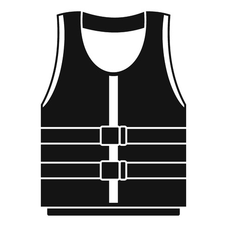 River canoe vest icon. Simple illustration of river canoe vest vector icon for web design isolated on white background Illustration