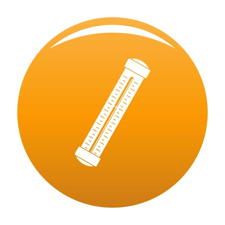 Medical thermometer icon. Simple illustration of medical thermometer vector icon for any design orange