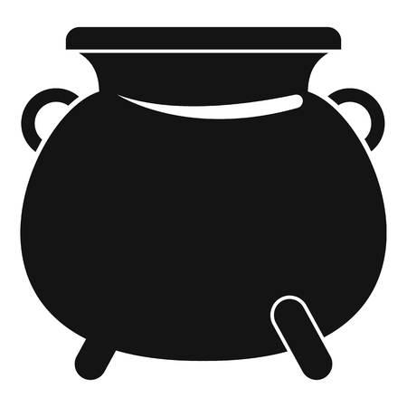 Cauldron pot icon. Simple illustration of cauldron pot vector icon for web design isolated on white background