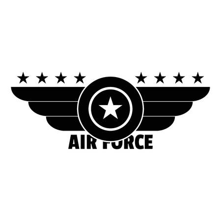 Air force logo. Simple illustration of air force vector logo for web design isolated on white background Vectores