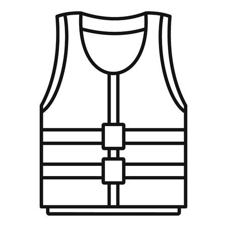 River canoe vest icon. Outline illustration of river canoe vest vector icon for web design isolated on white background