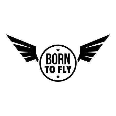 Born fly logo. Simple illustration of born fly vector logo for web design isolated on white background