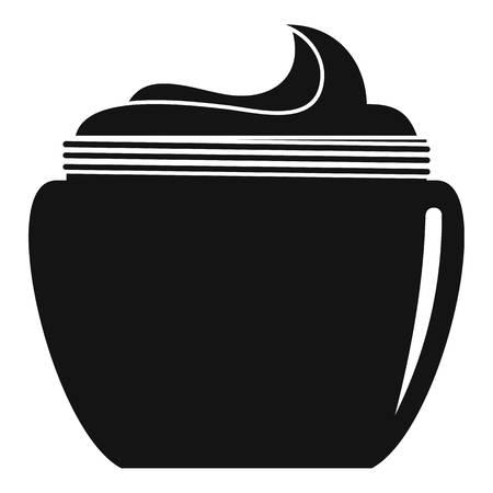 Aloe body cream icon. Simple illustration of aloe body cream vector icon for web design isolated on white background