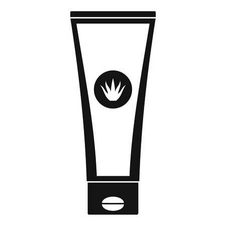 Aloe tube icon. Simple illustration of aloe tube vector icon for web design isolated on white background Иллюстрация