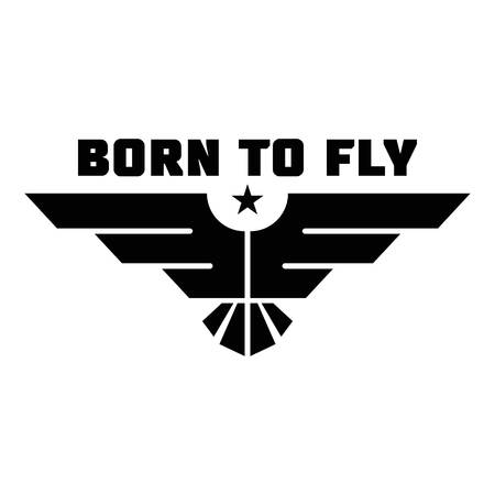 Born to fly logo. Simple illustration of born to fly vector logo for web design isolated on white background Archivio Fotografico - 103431708