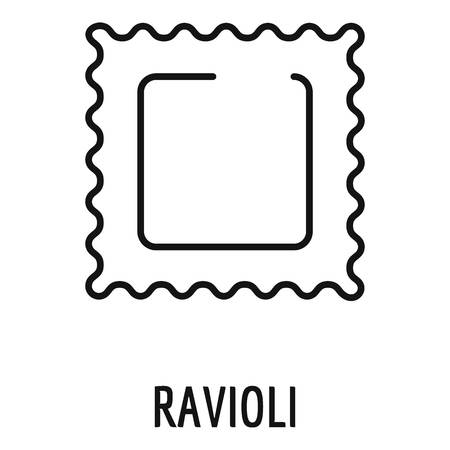 Ravioli pasta icon. Outline ravioli pasta vector icon for web design isolated on white background