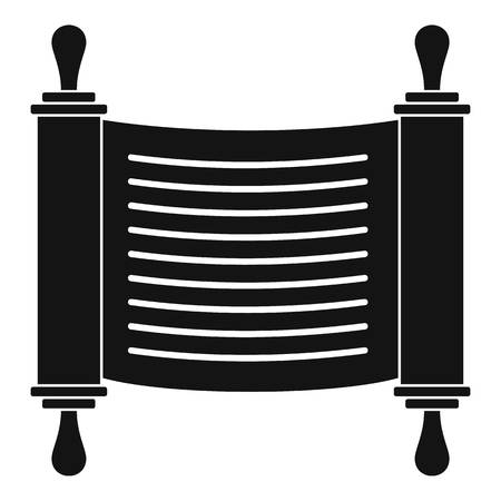 Torah scroll icon. Simple illustration of torah scroll vector icon for web design isolated on white background Illustration