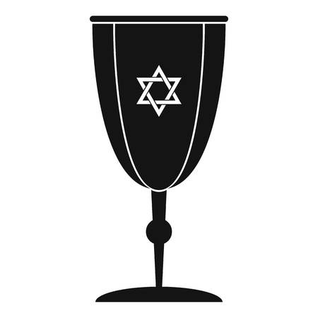 Judaism cup icon. Simple illustration of judaism cup vector icon for web design isolated on white background