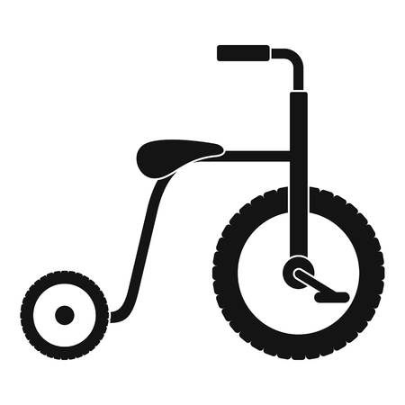 Plastic tricycle icon. Simple illustration of plastic tricycle vector icon for web design isolated on white background