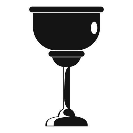 Icono de copa judía. Ilustración simple de icono de vector de copa judía para diseño web aislado sobre fondo blanco
