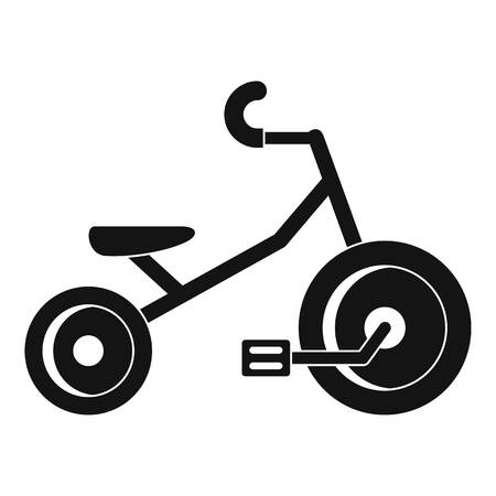 Kid tricycle icon. Simple illustration of kid tricycle vector icon for web design isolated on white background
