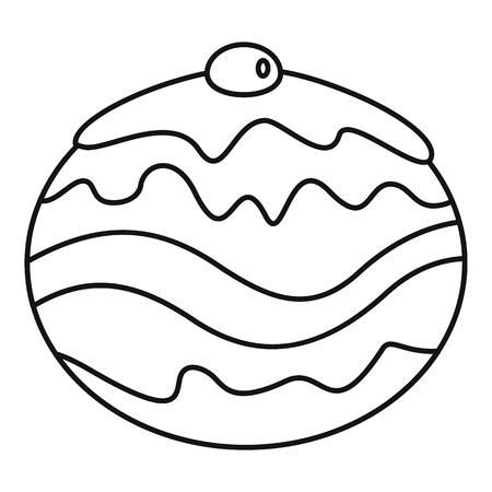 Jüdische Bäckereikone. Umrissillustration der jüdischen Bäckereivektorikone für Webdesign lokalisiert auf weißem Hintergrund