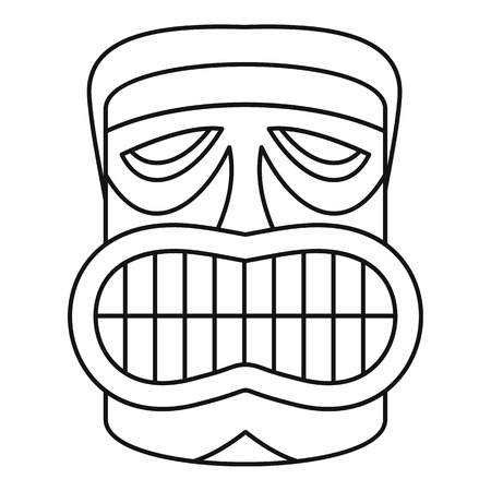 Hawaii idol face icon. Outline hawaii idol face vector icon for web design isolated on white background