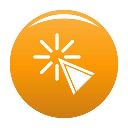 Cursor click icon. Simple illustration of cursor click vector icon for any design orange