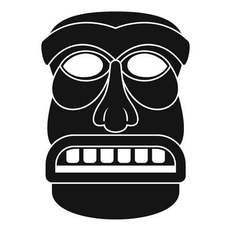 Aztec idol icon. Simple illustration of aztec idol vector icon for web design isolated on white background Illustration