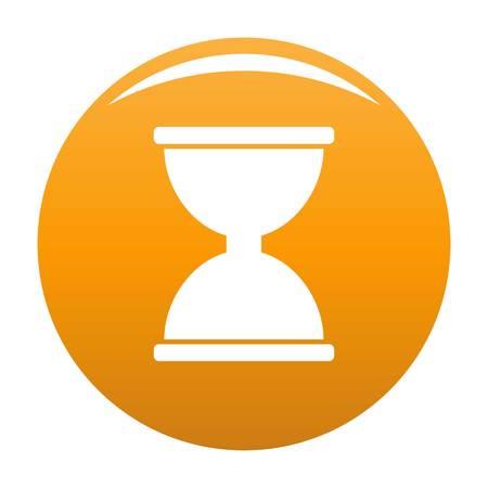 Cursor click loading icon. Simple illustration of cursor click loading vector icon for any design orange