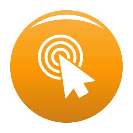 Cursor design element icon. Simple illustration of cursor design element vector icon for any design orange