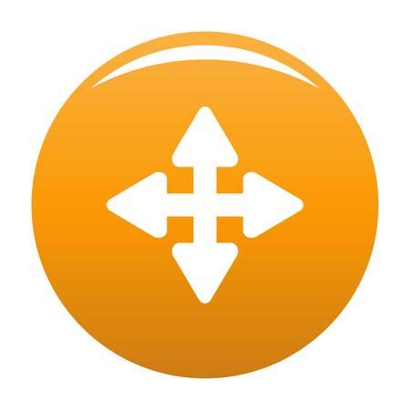 Cursor displacement element icon. Simple illustration of cursor displacement element vector icon for any design orange