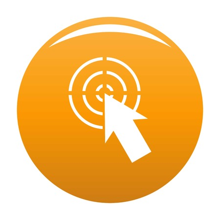 Cursor shape icon. Simple illustration of cursor shape vector icon for any design orange