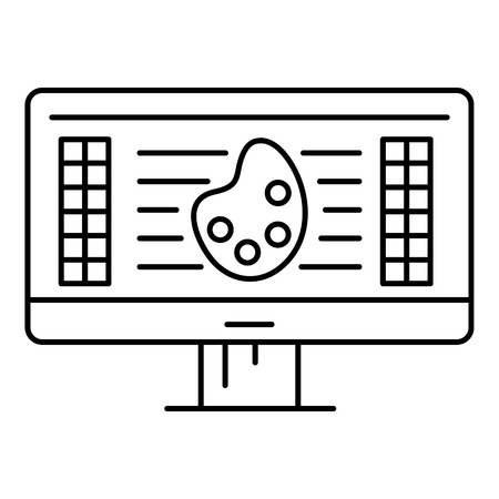 Web drawing icon. Outline illustration of web drawing vector icon for web design isolated on white background
