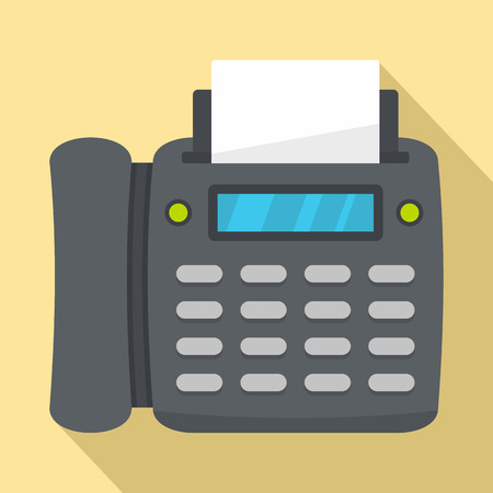 Office fax icon. Flat illustration of office fax vector icon for web design