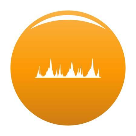 Equalizer technology icon. Simple illustration of equalizer technology vector icon for any design orange