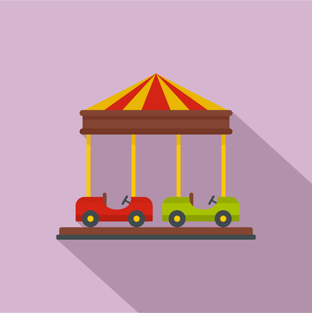 Car carousel icon. Flat illustration of car carousel vector icon for web design
