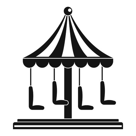 Circus carousel icon. Simple illustration of circus carousel vector icon for web design isolated on white background