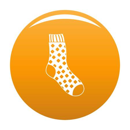 Cotton sock icon. Simple illustration of cotton sock vector icon for any design orange
