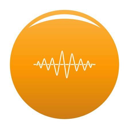Equalizer technology radio icon. Simple illustration of equalizer technology radio vector icon for any design orange Illustration