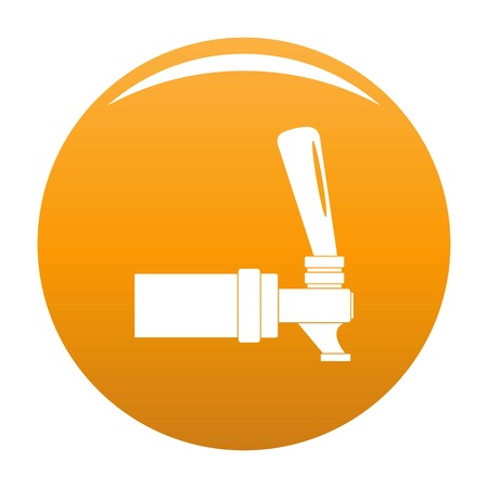 Faucet icon. Simple illustration of faucet vector icon for any design orange Çizim