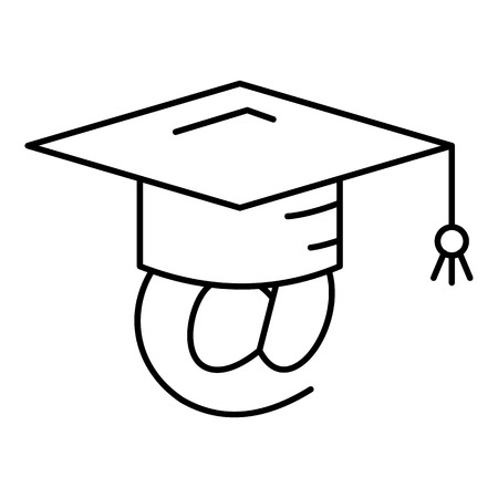 Adress graduated icon. Outline illustration of adress graduated vector icon for web design isolated on white background